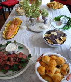 baby shower buffet...simple and even health friendly for mom and baby.