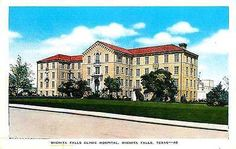 Wichita Falls Texas TX 1940s Wichita Falls Clinic Hospital Vintage Postcard