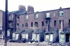Demolition of The Meadows, c 1974 Local History, Family History, Nottingham Uk, Southport, Slums, Ranch Style, Belfast, Old Photos, Britain
