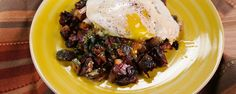 MARIO BATALI Mystery Hash with Hollandaise and Fried Eggs