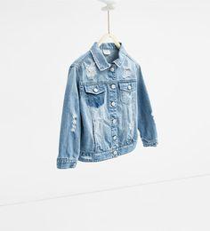 Image 2 of Denim jacket from Zara