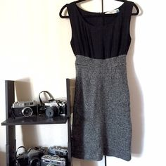 2x HPAnthropologie Tweed Dress HP 12/5 Best in Dresses & Skirts and 1/9 Style Essentials  beautiful dress with the right amount of sophisticated sexy, by Sparrow from Anthropologie. Delicate and flowy pleated chiffon up top and soft wool tweed skirt, fitted for a flattering silhouette. Perfect for office, date, or just everyday gorgeousness. Feel free to ask questions or make offers! ⭐️tag size is Medium, but IMO this brand runs small. I'm a size 2-4 in dresses and this dress is snug in the…