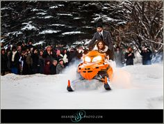 snowmobile wedding