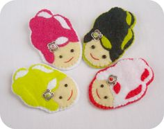 "Broches ""Niña Bonita"""