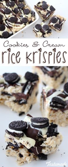 Your favorite cookies and cream cookie in rice krispy form. Your kids will absolutely love this sweet treat!