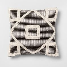 Add a unique pop to your living space with this Black Diamond Throw Pillow from Opalhouse™. Thick stitching creates an intricate, eye-catching design, while the black and white color scheme easily matches your existing decor. The square throw pillow is both stylish and functional, providing you with something comfortable to lean or lie on while you watch movies, read or write.<br><br>This is your house. Where you create spaces as bold as your spirit. Collect objects as in...