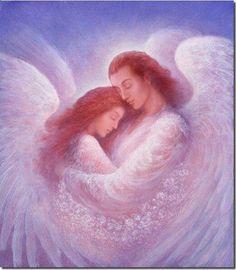 Angelic Embrace ♥ Art by Jack Shalatain