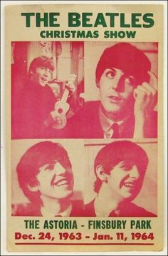 "24DEC1963 The opening night of ""The #Beatles' Christmas Show"" at Astoria Cinema, Finsbury Park, London. A combination of music & comedy sketches & costume pantomime performances."