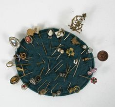 6e4d9817b Stickpin Collection Stick Pins, Pin Collection, Cabinet Of Curiosities,  Vintage Hats, Hat