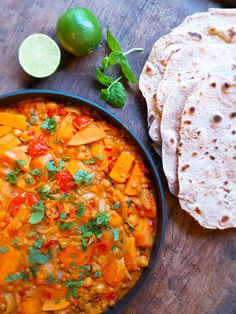 Dhal, Vegan Recipes, Vegan Food, Chapati, Nom Nom, Curry, Food And Drink, Ethnic Recipes, Curries