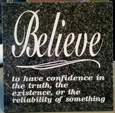 Believe.... ceramic tile vinyl lettering