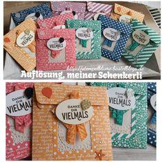 StampinUp, Schenkerlis für meine Sammelbesteller, In Colorverglasung 2016-2018, Geschenktüten Board...