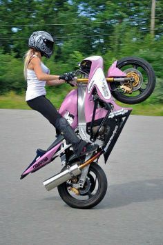 Motorcycle stunt riding that is not only biker men can do. In fact, many biker girl can do too, even better than biker men. However most of these biker women are singles, so if they want to find a man who has something in common with them, the motorcycle men must be the first choice of them, because the men who ride motorcycles understand them why do they love motorcycle riding, and easier to get along with.