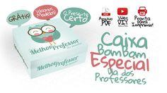 Caixa de Bombom para o Dia dos Professores - Grátis Projects To Try, Teacher, Party, Diy, Gifts, Frames, Silhouette, Country, Rose
