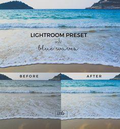 Blue waves - Lightroom preset. Actions. $3.00
