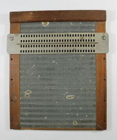Braille Slate, France, 1830s. Visit the Perkins Archives Flicker page: http://www.flickr.com/photos/perkinsarchive/collections/ Visit pinterest.com/wonderbabyorg/ for more great resources about braille