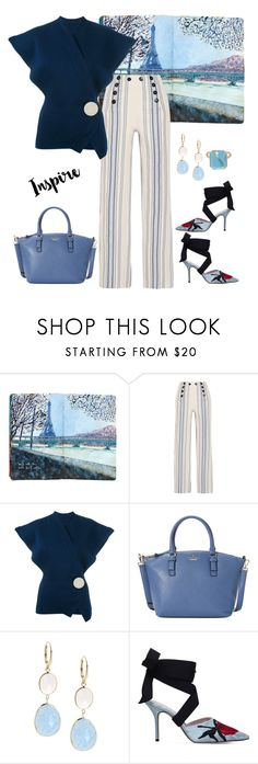 """""""Inspired Blue💙💍🍹"""" by parnett ❤ liked on Polyvore featuring Lemlem, Jacquemus, Kate Spade, Saks Fifth Avenue, Christopher Kane and Kataoka"""