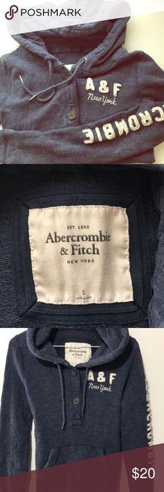 Abercrombie hoodie (navy) Women's size small Abercrombie hoodie. Gently worn. Abercrombie & Fitch Tops Sweatshirts & Hoodies
