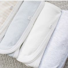 Our beautiful blankets from soft organic bamboo cotton from baby MORI. Check them out in our shop