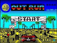 Out Run start screen on the ZX Spectrum