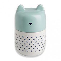 pot Cat bleue / boutique les fleurs