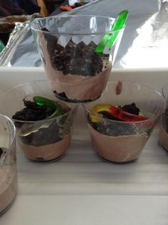 Dirt Cups For Kids Camping Birthday Party Theme