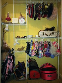 Coco, the Couture Cat: Wordless Wednesday... Coco's Closet and DIY hanger... Diy Hangers, Pet Fashion, Fundraising, Wednesday, Couture, Cats, Pink, Closet, Gatos