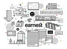 From code to customer service calls, Earnest takes stock of our growth in -- ANNUAL REPORT Icon Design, Web Design, Graphic Design, Annual Review, Annual Reports, Take Stock, Memphis Design, Flat Illustration, Illustrations