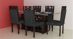 Picture of Lavani Dinning Set Gris Dinning Set, Dining Chairs, Dining Table, Interiors Online, Teak Wood, Interior Design, Modern, Furniture, Home Decor