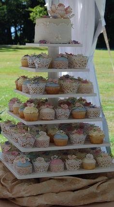 Vintage wedding cupcake tower, 60 pcs Girls Birthday Pink Butterfly Laser Cut Cupcake Wrapper Baking Wrap W009F