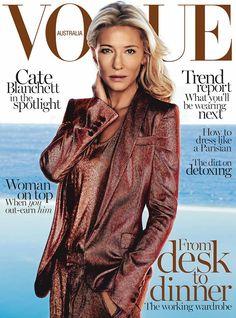 monochrome - Vogue Australia February 2014 Cate Blanchett by Steven Chee