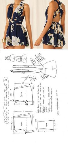 Dreieckiger Overall … ♥ Sea ♥ (Diy Clothes) – Informationsspeicher - Diy Kleidung Diy Clothing, Sewing Clothes, Clothing Patterns, Dress Patterns, Barbie Clothes, Fashion Sewing, Diy Fashion, Ideias Fashion, Fashion Outfits