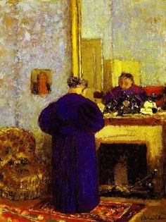 Edouard Vuillard - Old woman before a mirror by Edouard Vuillard