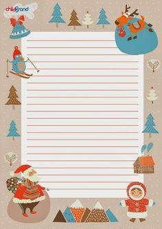 Письмо Деду Морозу Lined Writing Paper, Writing Papers, Stationary Printable, Santa Letter, Christmas Frames, Merry Christmas, Christmas Holidays, Free Christmas Printables, Christmas Templates