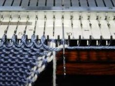 No-Roll Slipped Selvage For manual single-bed knitting machines