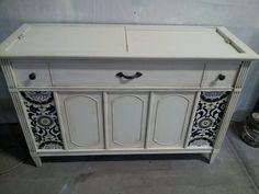 Refinished record player console