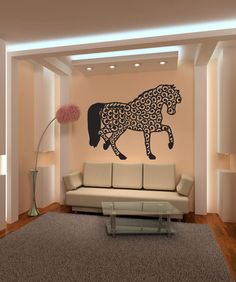 Vinyl Wall Decal Sticker Intricate Horse #OS_MB253 | Stickerbrand wall art decals, wall graphics and wall murals.