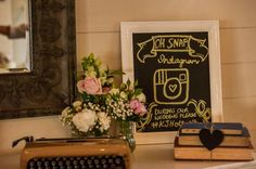 DIY Instagram wedding sign