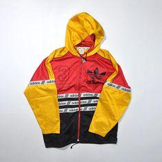 53245cbc9f054 Rare Vintage ADIDAS Windbreaker Jacket   ADIDAS Color Block Multi Color  Hoodie   ADIDAS Streetwear Jumper   90s Old school Swag Hip Hop