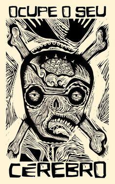 TIPOGRAFIA | Eldes Cordel - © Eldes.com - Aplicação em arte de Samuel Casal (www.samuelcasal.com) #typography #woodcut #cordel #xilogravura