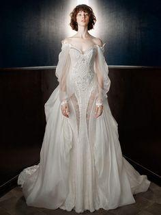 'Thelma' Wedding Dress With 'Ossie' Detachable Train | Galia Lahav Spring/Summer 2018
