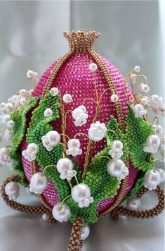 Easter is coming and i collected some photos of beautiful beaded Easter eggs. I hope
