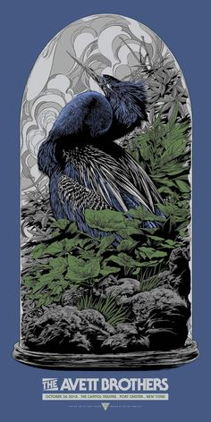 New Concert Posters for The Avett Brothers and Jack White by Ken Taylor (Onsale Info) - Dr Wong - Emporium of Tings. Omg Posters, Band Posters, Ken Taylor, Sneaker Art, Jack White, Design Graphique, Geek Art, Animal Wallpaper, Japanese Artists