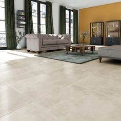 Floor and wall tiles beige concrete effect New cottage x cm - ftille Murs Beiges, Wall Tiles, Home Remodeling, Sweet Home, New Homes, Cottage, House Design, Multimedia, Flooring