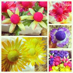 Flower cake pops Flower Cake Pops, Cakepops, Cupcake Cakes, Sweets, Flowers, Desserts, Recipes, Tailgate Desserts, Deserts