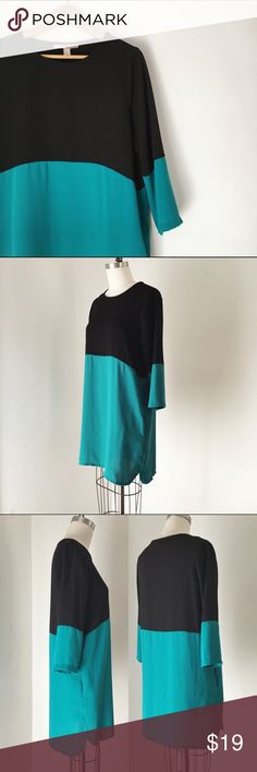 Colorblock Tunic Dress with Pockets Size M, worn and washed about 5 times, euc, details to come! Forever 21 Dresses Mini