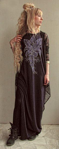 Mandrake Witch Dress dark purple floorlength One by MoonInTaurus
