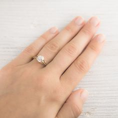 1.14 Carat Victorian Diamond & Gold Solitaire Engagement Ring | Erstwhile Jewelry Co.