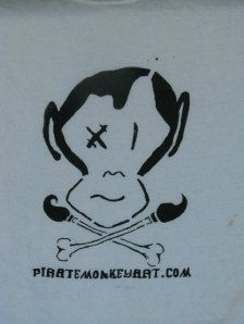 Pirate Monkey Art T-shirts Make My Own Shirt, Monkey Art, Whimsical Art, Ink Color, Cool Shirts, Pirates, Illustrators, Party Themes, Concept Art