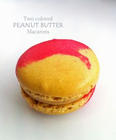 Two colored Peanut Butter Macaroons